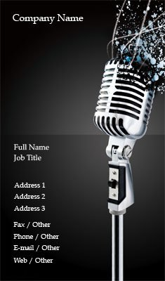 Microphone Business Card Template